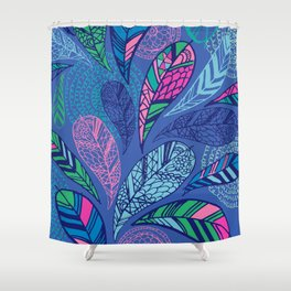 Feather Doodle Shower Curtain