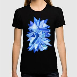 Sapphire Watercolor Facets T-shirt