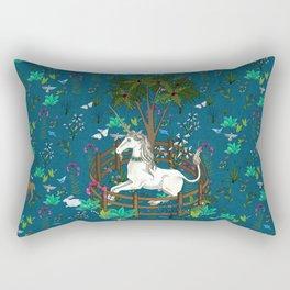 Unicorn Tapestry: the Unicorn in Captivity Rectangular Pillow