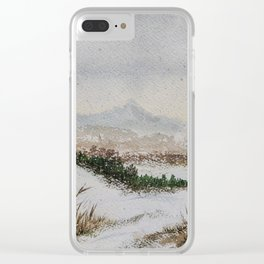 Winter land Clear iPhone Case