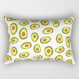 Modern hand painted avocado green brown watercolor pattern Rectangular Pillow