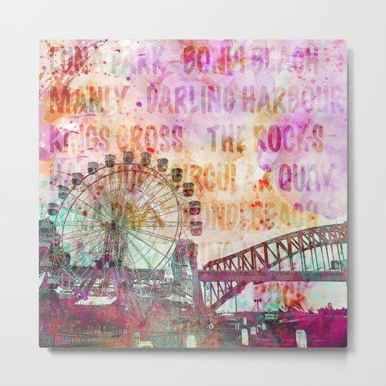 Sydney Luna Park Ferris Wheel Metal Print