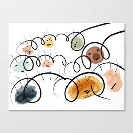 Kids Faces Canvas Print