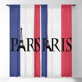 Grunge Paris Blackout Curtain