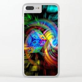 Abstrac perfekton 87 Clear iPhone Case