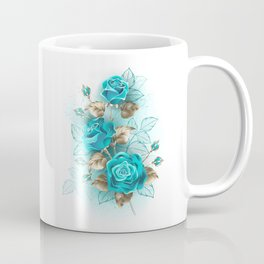 Bouquet of Turquoise Roses Coffee Mug