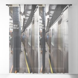 Wallstreet Subway Sheer Curtain
