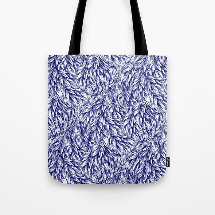 Fur Indigo Tote Bag