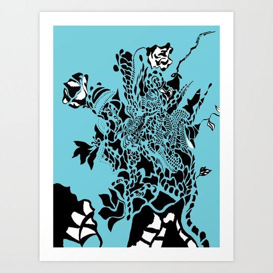 Floral Burst Art Print