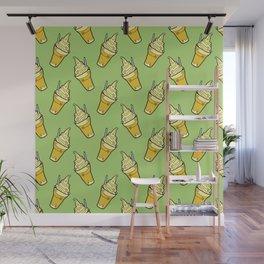 Sweet Little Pineapple Floats on Jungle Green Wall Mural