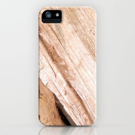 Firewood for heating the house of the deck into the oven iPhone Case