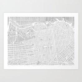 san francisco city print Art Print