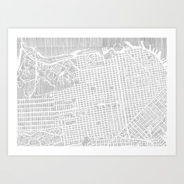 san francisco city print Art Print