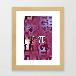 Apple Pie - Free Hugs and Kisses Framed Art Print