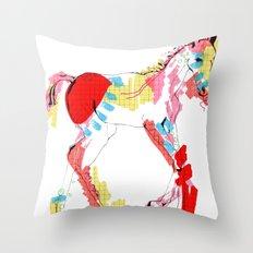 Baby horse colour Throw Pillow