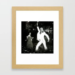 JASON VORHEES AS JOHN TRAVOLTA Framed Art Print