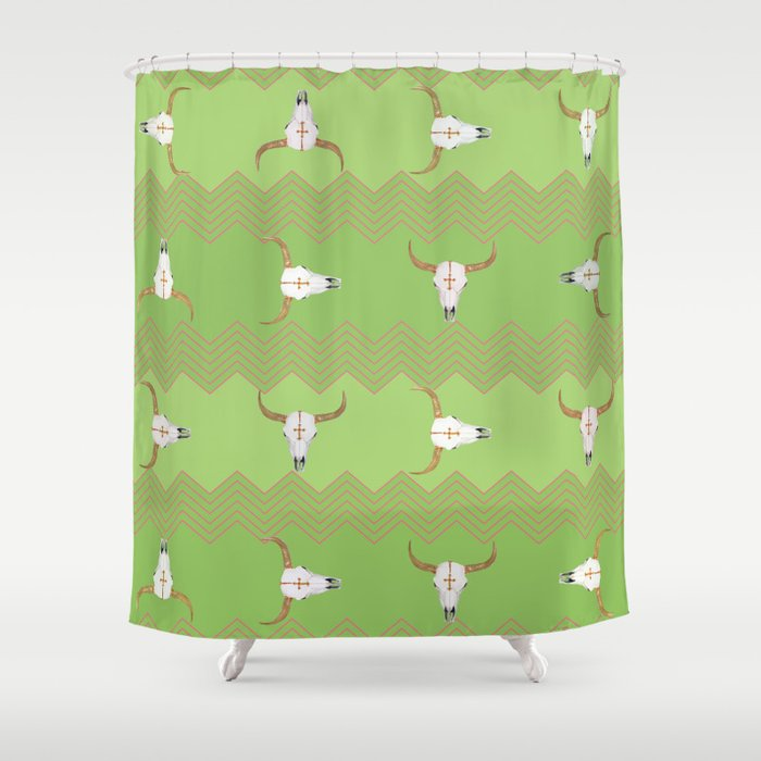 Longhorn Shower Curtain By Sweetdesignfactory