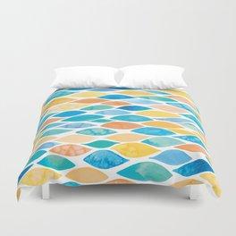 Watercolour Ocean   Desert Palette Duvet Cover