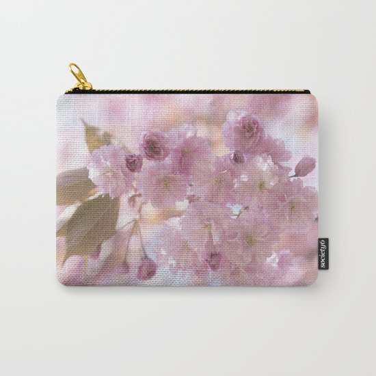 Pink Spring Cherryblossoms on #Society6 Carry-All Pouch
