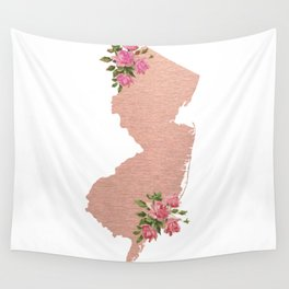Baesic Rose Gold New Jersey Wall Tapestry