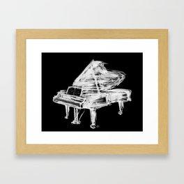 Black Piano Framed Art Print