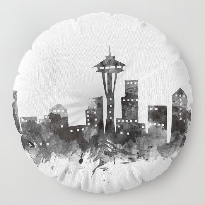 Seattle Skyline Floor Pillow