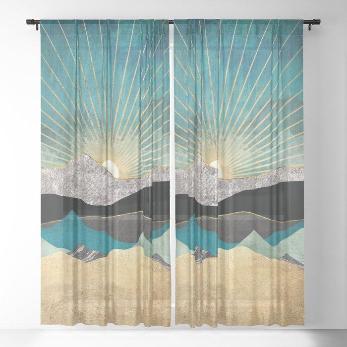 Peacock Vista Sheer Curtain