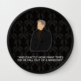 A Scandal in Belgravia - Greg Lestrade Wall Clock