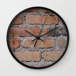 Aged Brick Wall rustic decor Wall Clock
