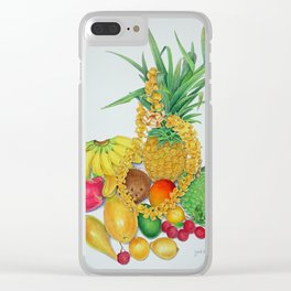 Tropical Fruit with Lei Clear iPhone Case