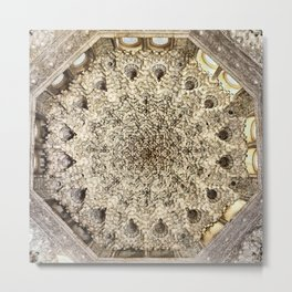 Two sisters Room roof. The Alhambra palace. Metal Print