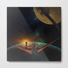 GOOD MORNING SPACE Metal Print