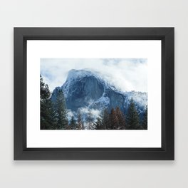 Ice-capped Half Dome at Sunrise | Yosemite National Park, California Framed Art Print
