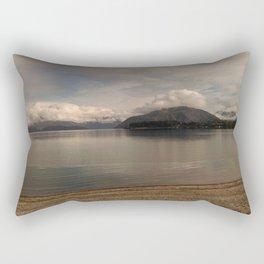 lake wanaka silent capture at sunset in new zealand Rectangular Pillow