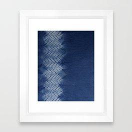 Shibori Chevron Stripe Framed Art Print