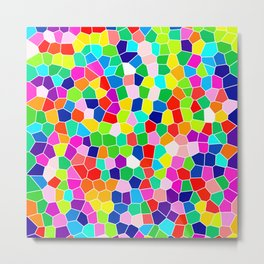 Rainbow Stained Glass Metal Print