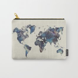 world map 124 blue  #worldmap #map Carry-All Pouch