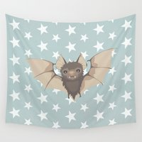 bat Wall Tapestries featuring Bat by Mr and Mrs Quirynen