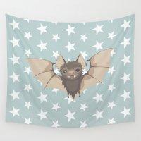 bat Wall Tapestries featuring Bat by Mr & Mrs Quirynen
