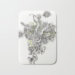 ANGUIS IN HERBA: Snake in Weed Bath Mat