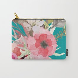 Flowers , floral , shabby chic décor,  flower decor , Carry-All Pouch