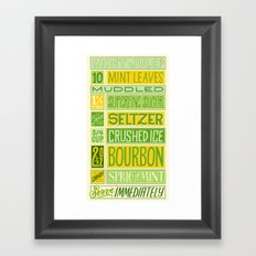 Mint Julep Framed Art Print