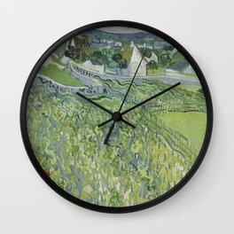 Vineyards at Auvers Wall Clock