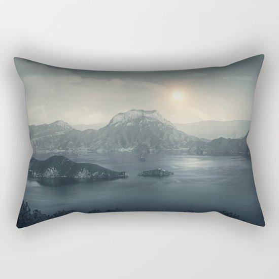 Silent sunset Rectangular Pillow