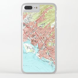 Honolulu Hawaii Map (1983) Clear iPhone Case