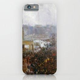 Arthur Streeton - Fireman's Funeral, George Street - Digital Remastered Edition iPhone Case