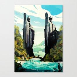 The Gates of Argonath Canvas Print