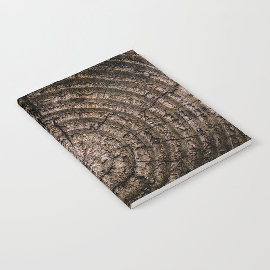 Green leaf Brown wood Notebook