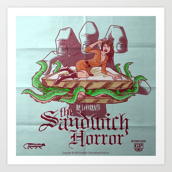 H.P. LoveKRAFT's  The Sandwich Horror Art Print