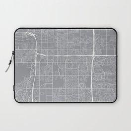 Tempe Map, Arizona USA - Pewter Laptop Sleeve
